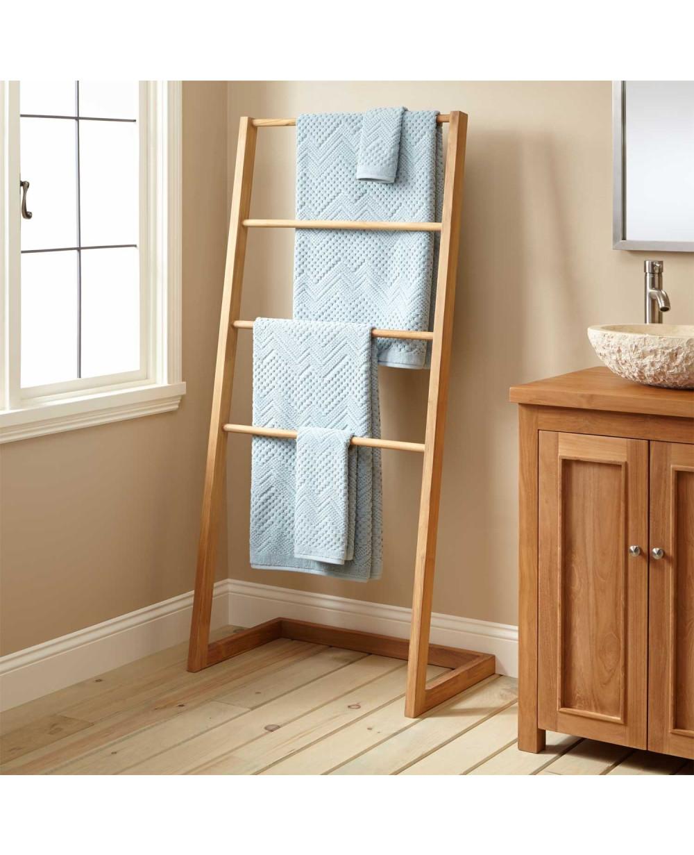 Buy Online Sylvia Teak Towel Hanger I Rico Plato