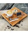 Teak coffee tray 'Brazil' square big Rico & Plato