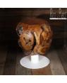 Online Teak stool 'Espiritu', with steel with  leg I Rico & Plato