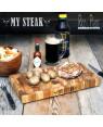 Online Teak End Grain Cutting - chopping Board ''My Steak