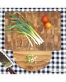 End Grain Teak Butcher Chopping Block with plate | Rico & Plato