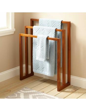 Towel hanger in teak large ' Layla ' 90cm