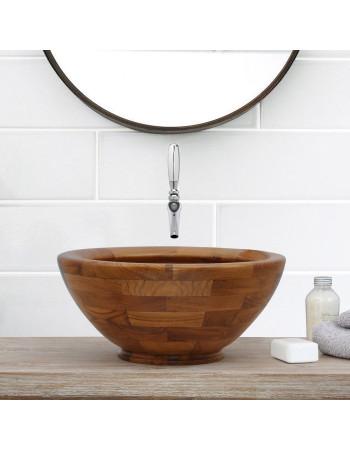 Teak Basin Round - Adela 50cm