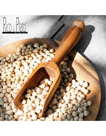 Teak scoop with long handle Lentil large