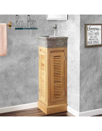 teak corner vanity ' Washup' Rico & Plato's wildwater collection