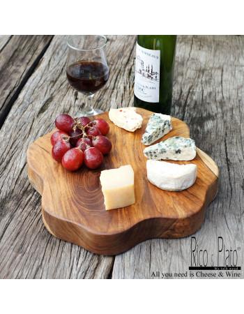 """Wooden teak cheese platter """"Tallegio"""" I Rico & plato"""