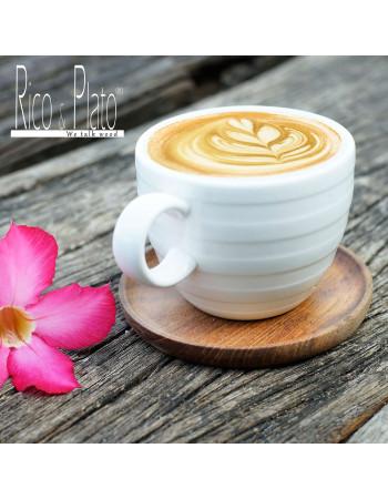Teak coffee cup coaster 'Mokka' I Rico & Plato
