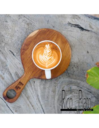 "Online Teak coffee cup server ""Cren"" I Rico & Plato"