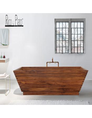 Mahogany wooden bathtub Sloop | Rico & Plato