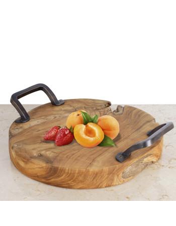 Teak serving platter Monggo