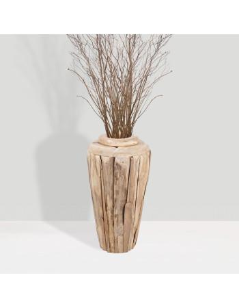 "Buy online teak planter vase ""Porto"" small I Rico  & Plato"