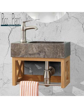 teak wall hung vanity washup 004