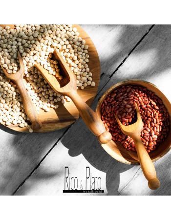 Teak scoop with long handle Lentil Set
