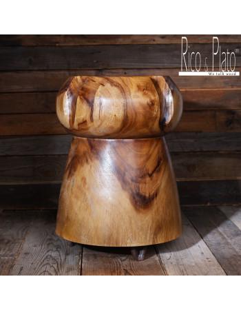 Online wooden Suwar stool ''Cork'' I Rico & Plato