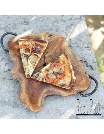Online wood teak Pizza board 'Ricetto' I Rico & Plato