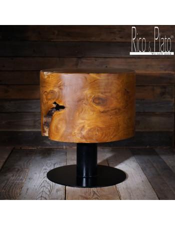 "Handmade wooden Teak stool ""Plato"" I Rico & Plato"