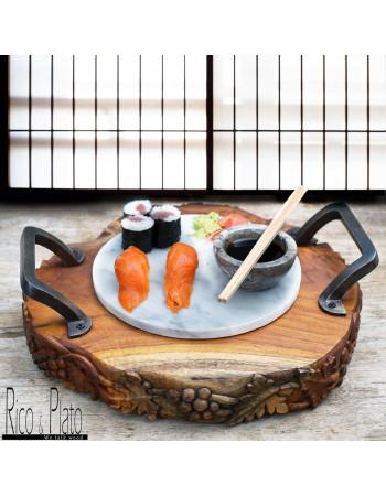 Teak Sushi server ''Seki'' I Rico & Plato