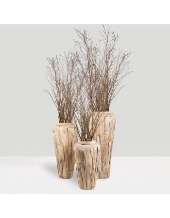 """Buy online teak planter vase """"Porto"""" SET I Rico  & Plato"""