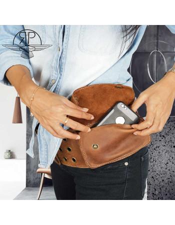 Genuine Leather Waist Bag 'Janis' M