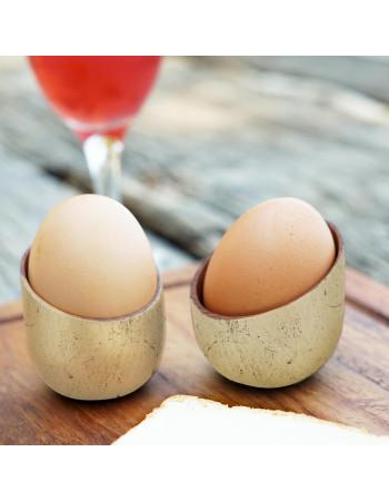 """Online Teak egg cup """"Costes"""" gold leaf I Rico & plato"""