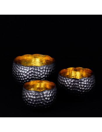 set of 3 bowls in copper | Rico & Plato
