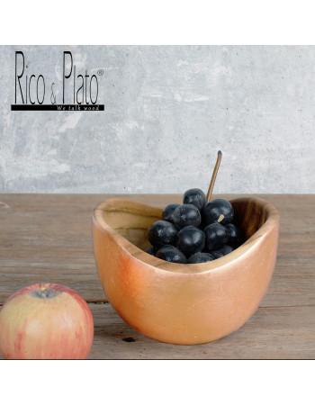 """Teak bowl """"Adagio"""" Ø 15cm copper leaf I Rico & Plato"""