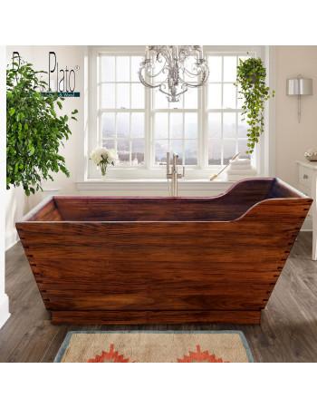Fuji teak bathtub in mahogany wood | Rico & Plato