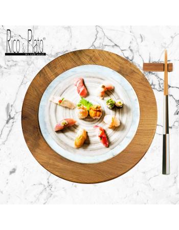 Teak cheese / Sushi server 'Fuji'