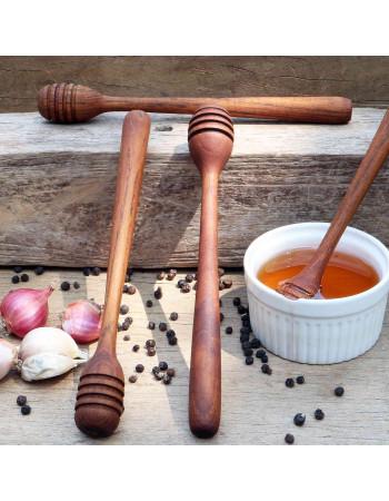 great teak wooden honey dipper
