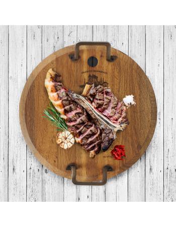 Oak serving platter 'Minella Round M' I Rico & Plato.
