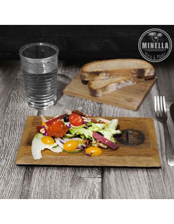 Buy Oak serving board / platter ''Minella Epoch'' 25cm x 15cm x 1.8cm I Rico & Plato