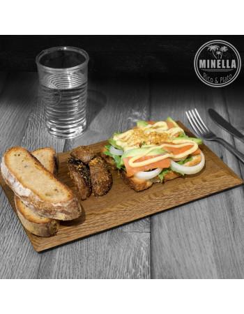 Buy Oak serving board / platter ''Minella Epoch'' 30cm x 18cm x 1.8cm I Rico & Plato