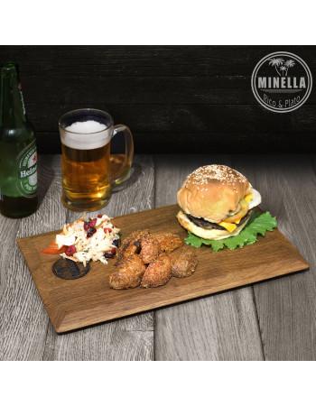 Oak serving board / platter ''Minella Epoch'' 35cm x 21cm x 1.8cm I Rico & Plato