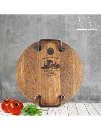 Oak serving wood minella S I Rico & plato