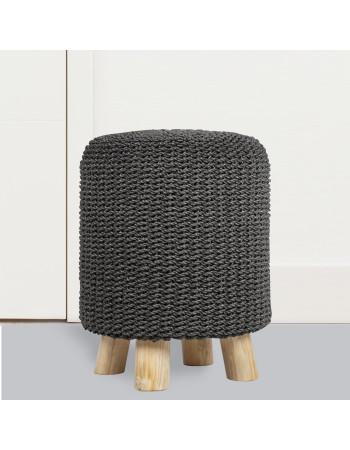Teak stool 'Espiritu', with steel with  leg I Rico & Plato