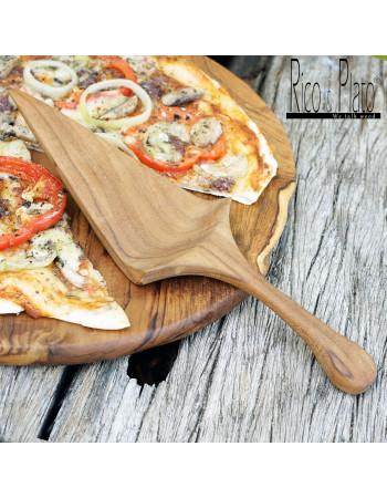 Buy Pizza end grain board 'Cilantro' leather handles I Rico & Plato