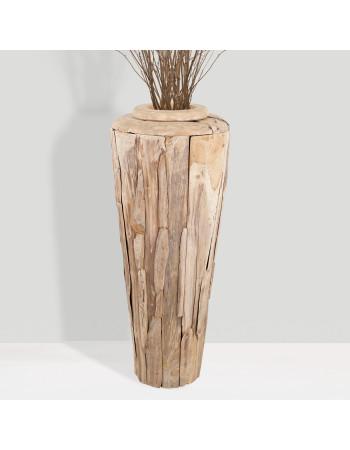 "Buy online teak planter vase ""Porto"" Large I Rico  & Plato"