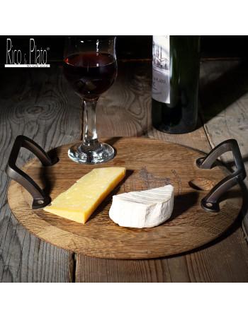 Online Oak serving cheese platter 'Minella Round S' I Rico & Plato
