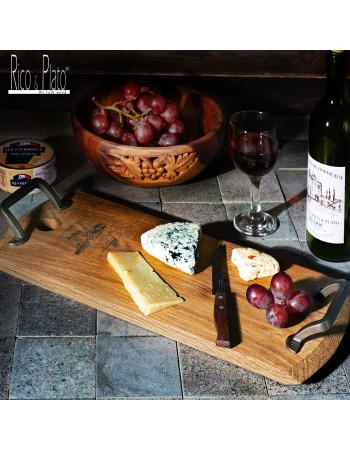 Online Oak serving platter 'Minella recta' I Rico & Plato