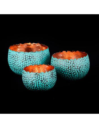set of 3 copper bowls