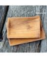 coffee cup tray in teak wood 'Brazil large | Rico & Plato