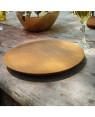 unique teak wooden plate Bourgogne - Rico & Plato collection