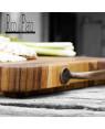 "End Grain Cutting Board ""Masala"" with Brass Handle Rico & plato"