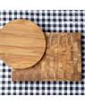 End Grain Teak Butcher Chopping Block with plate |