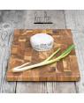 teak wooden end grain chopping board   Rico & Plato