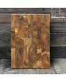 teak wooden end grain cutting board   Rico & Plato